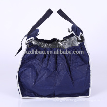 Foldable Insulated Non Woven Grab Bag Grocery Bag Shopping Cart Trolley Tote Bag
