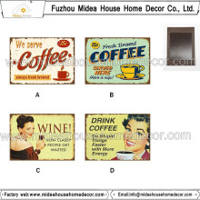 Imprimé Fuzhou Factory / Custom Metal Tin Souvenir Fridge Magnet