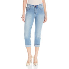 Indigo Donna Ultra Soft Denim Capri Jean