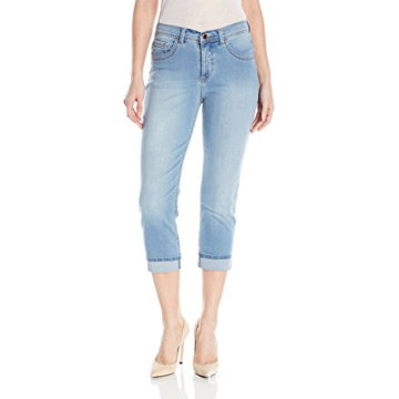 Indigo Damen Ultra Soft Denim Capri Jean