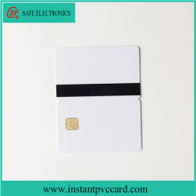 Cheap SLE4428 chip with magnetic stripe inkjet card