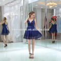 2017 Ladies Wholesale Blue Short Sexy Evening Dress