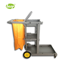 Cleaning utensils placement cart handle cleaning device