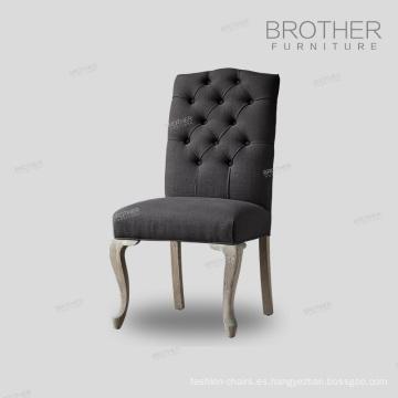Ventas de la fábrica de 100% tela de algodón silla de comedor con relleno