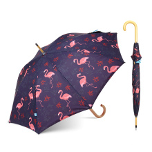 New Flamingo Heat Transfer Print Umbrella With Logo Printing