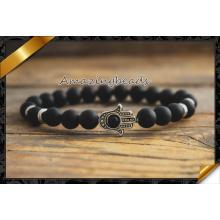 Achat Armbänder Armreifen Elastische Seil Kette Natürliche Stein Freundschaft Armbänder für Frauen und Männer Schmuck (CB055)