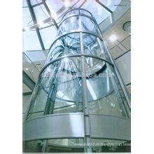 MRL FJZY Ascenseur panoramique / visuel avec voiture circulaire, 1.0m / s, 1000kg, 1500kg