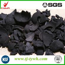 Carbón activado con cáscara de Palm