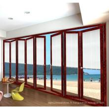 Feelingtop de bonne qualité Porte pliante en aluminium de luxe
