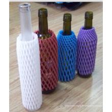 China Fabrik FDA genehmigt kostenlose Probe EPE Schaum Kunststoff Weinflasche Mesh Net beliebt in Australien Markt