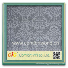 Fashion new design colorful home products textile flock embroidered velvet fabric