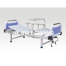 A-96 lit d'hôpital manuel à deux fonctions