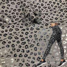 high elastic dry wicking polyester elastane leopard sports fabric for leggings