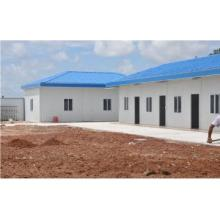 prefab house with steel structure and sandwich panel walls