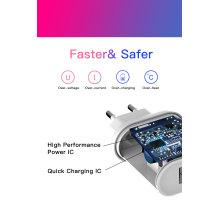 Cargador USB de carga rápida 3.0 Adaptador USB dual