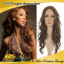 Romantic Women Virgin Human Hair Brazilian French Curl Human Hair Wigs