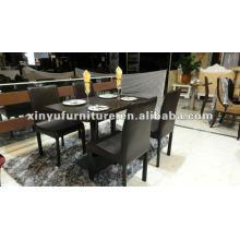 Mesa de café e cadeira pretas XDW1012
