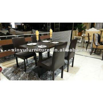 Mesa de centro y silla negra XDW1012