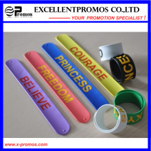 Hot Sale Silicone Slap Band with Custom Logo (EP-W58402)