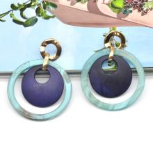 Fashion Circle Acrylic stud Ear rings For Women New Design Fancy Drop jewellery earring