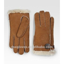natural sheepskin fur gloves
