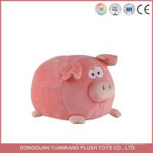 Atacado Personalizado Recheado 20 cm Plush Dog Bonito Macio Porco Brinquedo