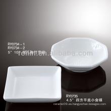 Sano, durable, blanco, porcelana, horno, seguro, japón, estilo, cuadrado, tazón