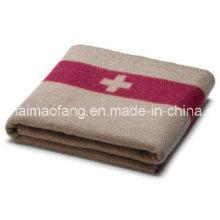 50%Wool/50%Polyester lana tejido mezclado ejército /Military manta