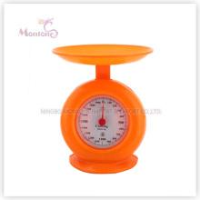 Échelle de cuisine mécanique en plastique de vente chaude de 1kg (19.8 * 17cm)