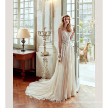 Lace Tulle A Line Bridal Wedding Gown