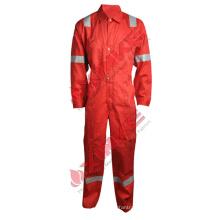 Coton de couleur rouge durable Salopette de travail ignifuge réfléchissante