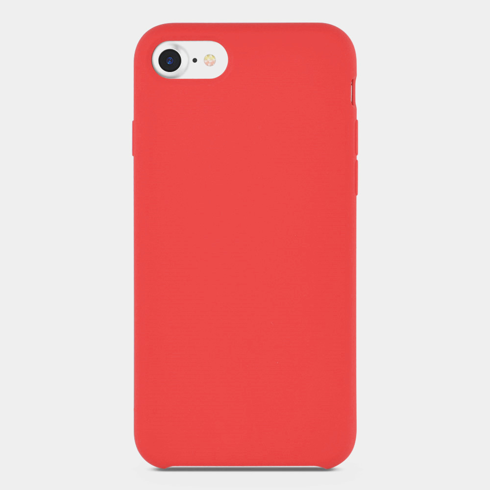 red liquid silicone iphone cover