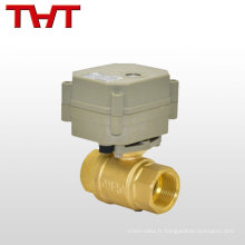 Vanne d'arrêt de régulation de débit électrique / eau / vanne de régulation de vapeur
