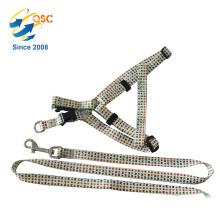 Ensemble de collier de harnais de laisse de chien suprême avec laisse tressée en nylon
