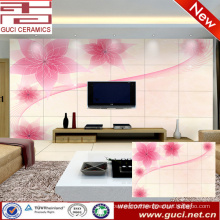 3D flower design Living room TV background ceramic wall tile