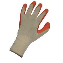 13G String Knit Liner Knit Wrist Orange Latex Work Glove