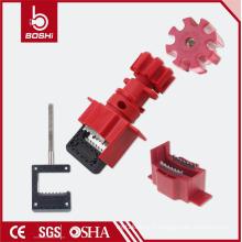 Verrouillage de valvule universel de sécurité BD-F33 avec câble, verrouillage de soupape avec certification CE ROHS OSHA