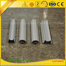 Extrusões de alumínio anodizadas revestimento do pó para o tubo do diodo emissor de luz do alumínio