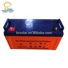 Batería de almacenamiento de energía solar de la vida profunda del ciclo 12V 200AH para la luz de calle solar