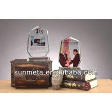Marco de la foto del cristal de la sublimación para el regalo de boda