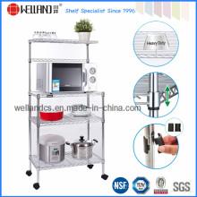 Многоцелевой металлической кухни Микроволновая печь стойку с колесами (CJ-B1003)