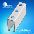 Canal de suporte em aço inoxidável com fenda 316L