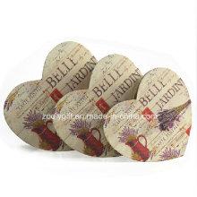 Caja de regalo impreso del papel de la forma del corazón