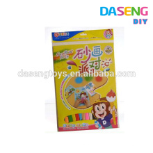 Wholesale paper sticker and color sand kids diy toy kits