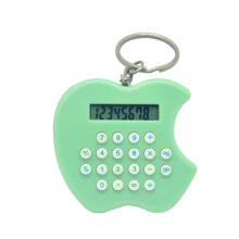 Mini Apple Shape Keychain Calculadora eletrônica