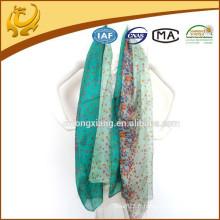 Musulman Hijab Shawl Mince 100% Foulard en soie Vente en gros Châle en mousseline de soie pour dames