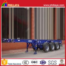 Châssis de semi-remorque de remorque de camion de squelette de 2-3 axes 20-40FT