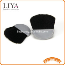 Goat hair half moon compact powder brush for make up