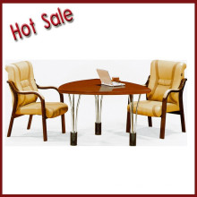 negotiation meeting round wooden/mdf/paper table