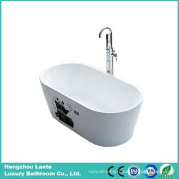 Fashion Printing Acrylic Freestanding Indoor Bathtub (LT-2BE)